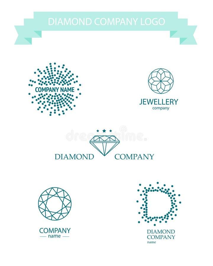 Wektorowy diamentowy loga set ilustracja wektor