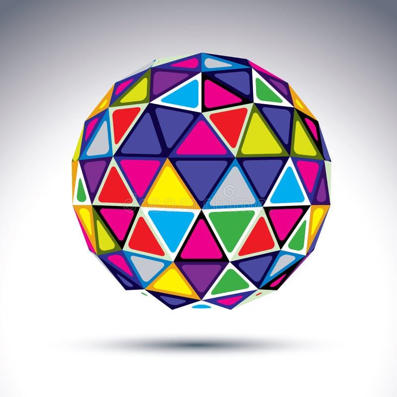 Wektorowy dimensional nowożytny abstrakcjonistyczny przedmiot, 3d dyskoteki piłka duszy royalty ilustracja