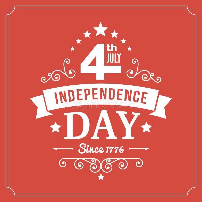 Wektorowy dnia niepodległości 4th Lipa znaka tło royalty ilustracja