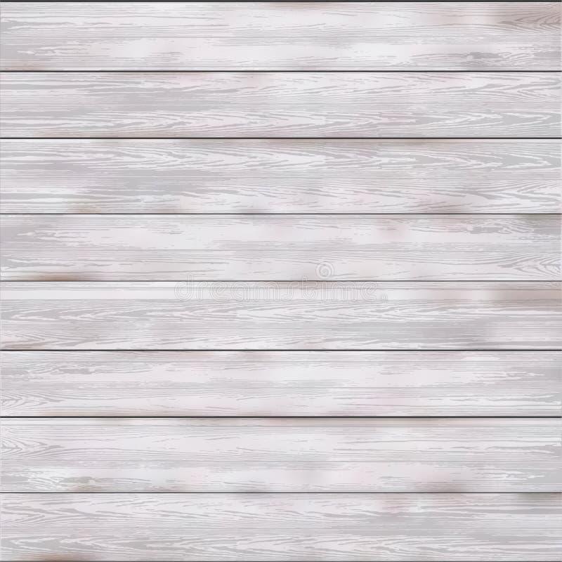 Wektorowy drewniany biały tekstury tło royalty ilustracja