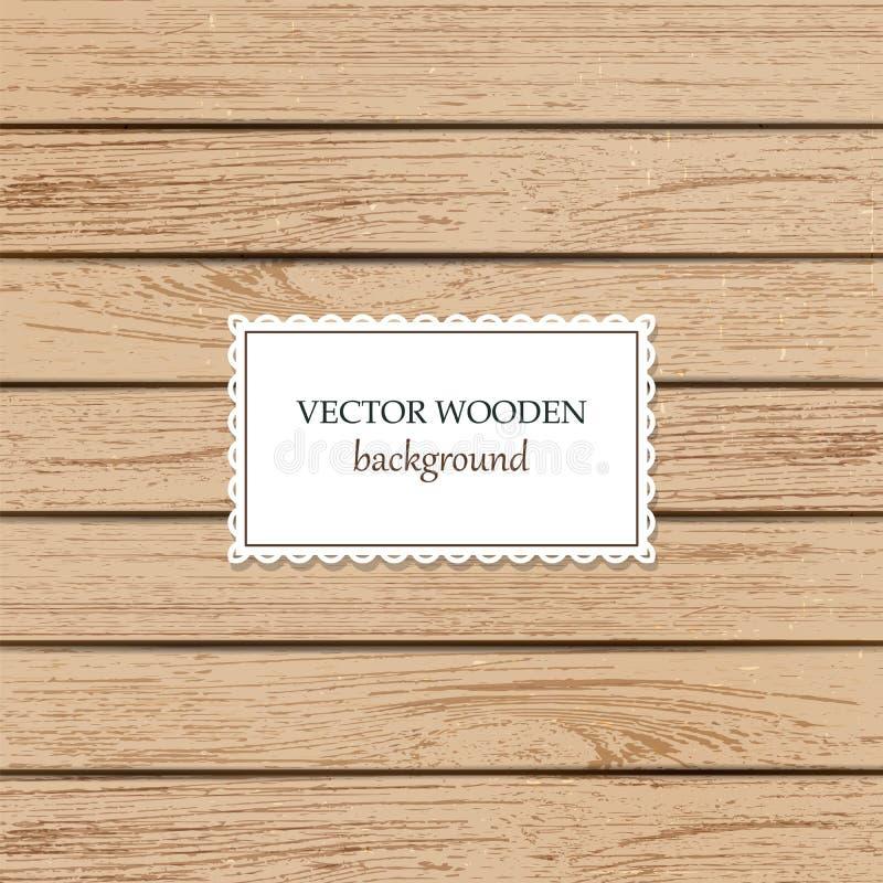 Wektorowy drewniany tło dla egzaminu próbnego w górę projekta ilustracja wektor