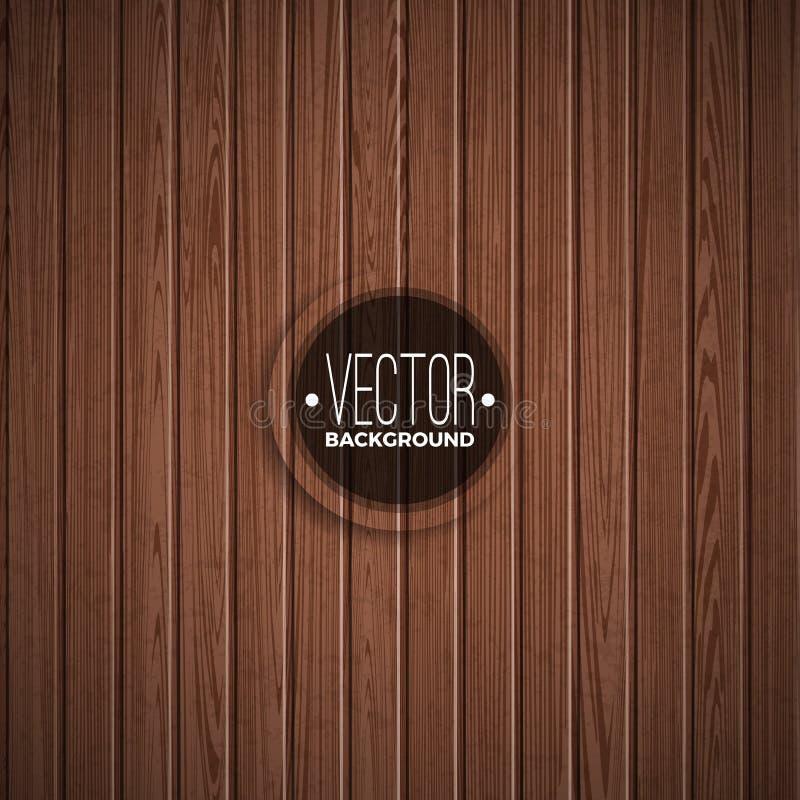 Wektorowy drewniany tekstury tła projekt Naturalnego ciemnego rocznika drewniana ilustracja ilustracja wektor