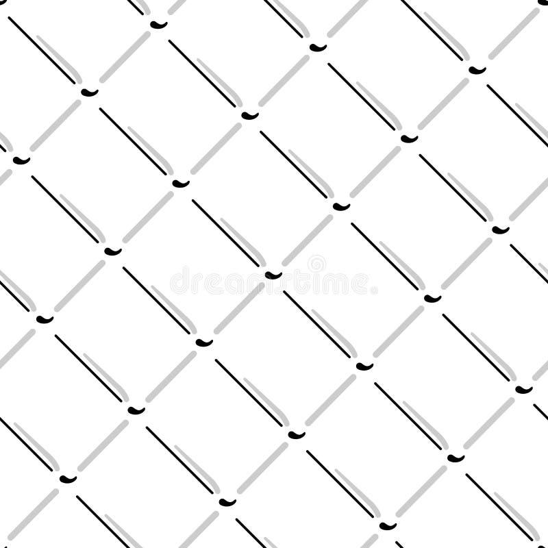 Wektorowy drucianej siatki bezszwowy wzór Szara druciana siatka odizolowywająca na białym tle ilustracji