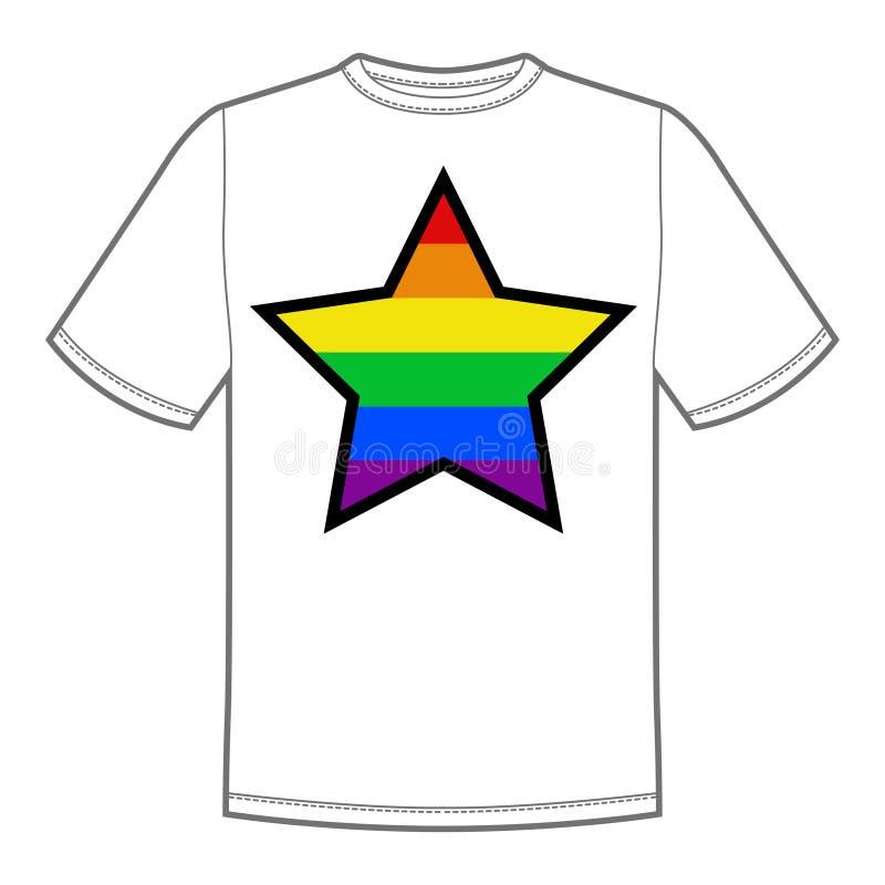 Wektorowy druk dla koszulki z dumy lgbt gwiazdą ilustracji