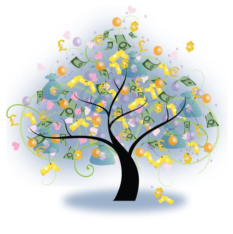 wektorowy drzewa bogactwo ilustracji