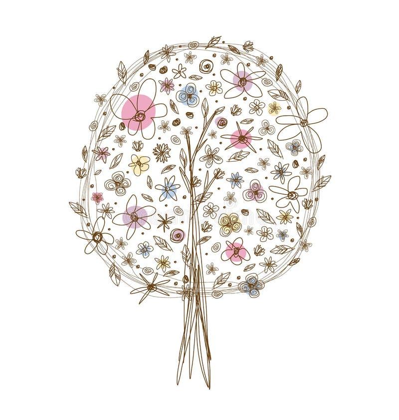 Wektorowy drzewny projekt royalty ilustracja
