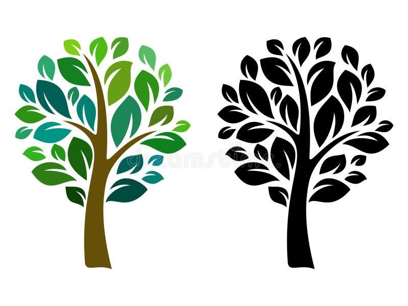 Wektorowy drzewo ilustracja wektor