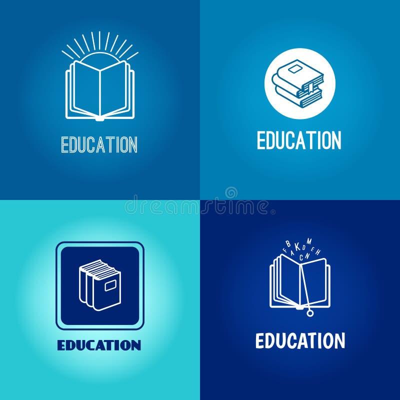 Wektorowy edukacja loga set royalty ilustracja