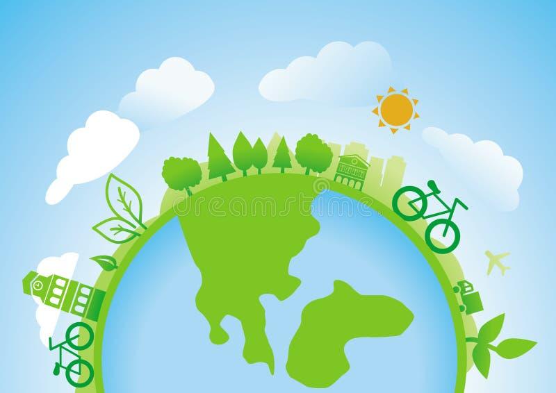 Download Wektorowy ekologii pojęcie ilustracja wektor. Ilustracja złożonej z pojęcie - 28971116