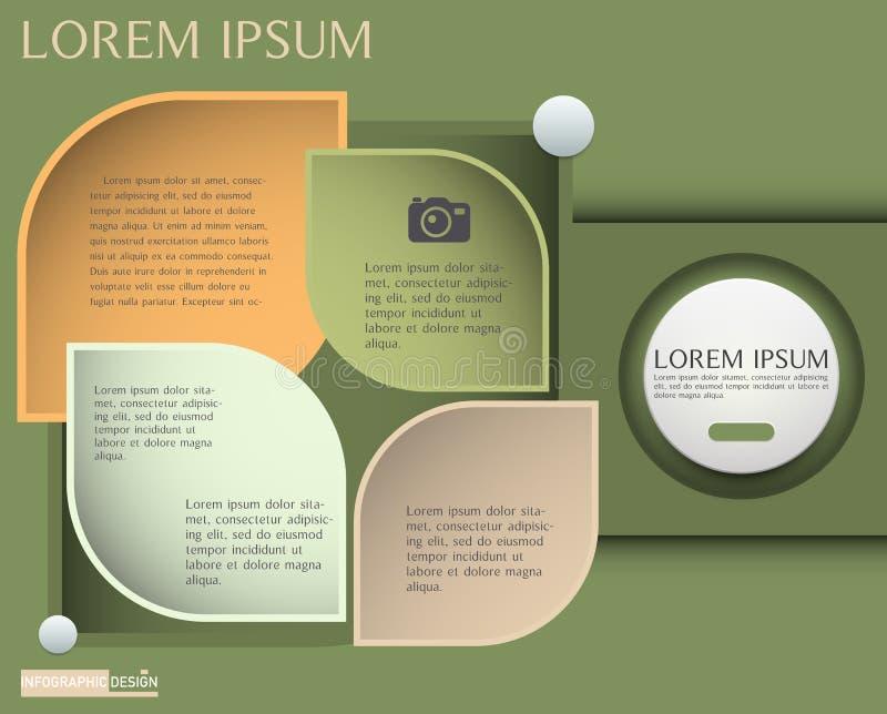 Wektorowy element dla Infographic projekta, prezentaci i mapy, Abs royalty ilustracja