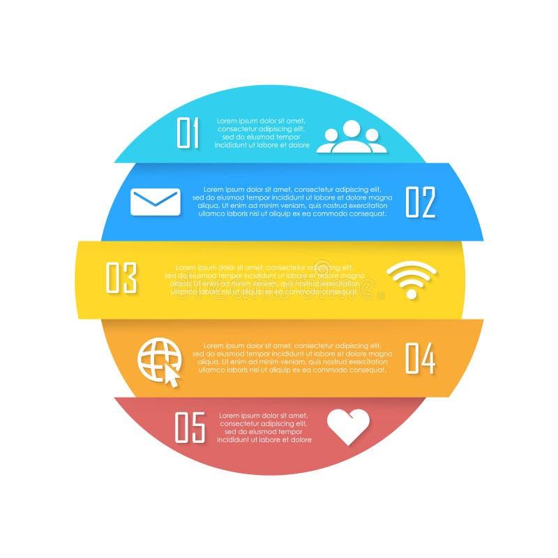 Wektorowy element dla round infographic Biznesowy pojęcie może używać dla mapy, broszurki, diagrama i sieć projekta, ilustracji
