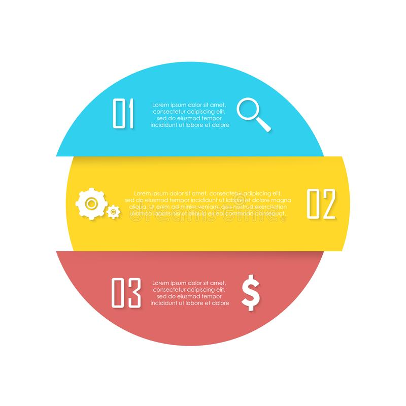 Wektorowy element dla round infographic Biznesowy pojęcie może używać dla mapy, broszurki, diagrama i sieć projekta, royalty ilustracja