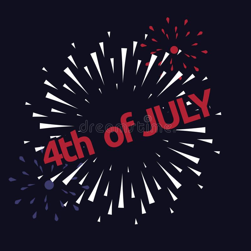 Wektorowy fajerwerk 4th Lipa amerykanina dzień niepodległości obraz royalty free