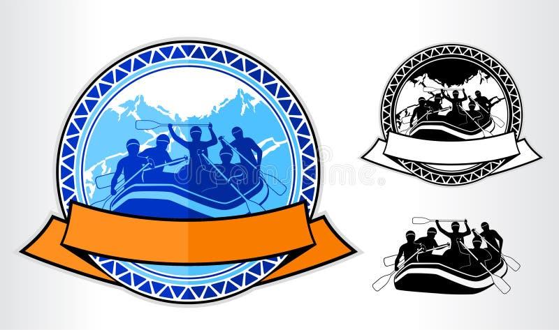 wektorowy flisactwo emblemata logo ilustracji