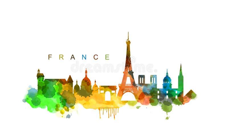Wektorowy France royalty ilustracja
