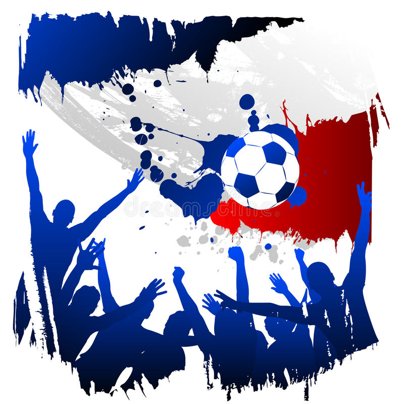 wektorowy France worldcup royalty ilustracja