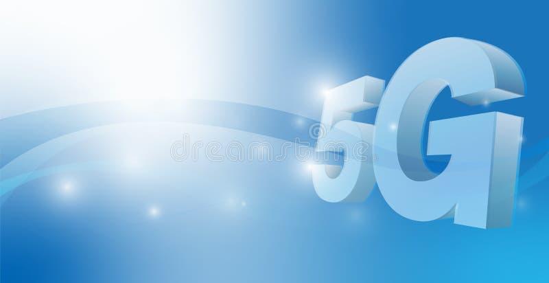 Wektorowy 5g związek dla technologii zawartości ilustracji