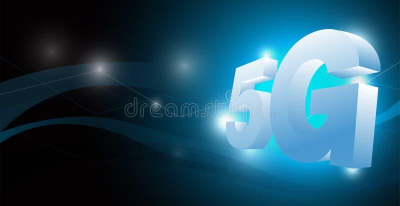 Wektorowy 5g związek dla technologii zawartości royalty ilustracja