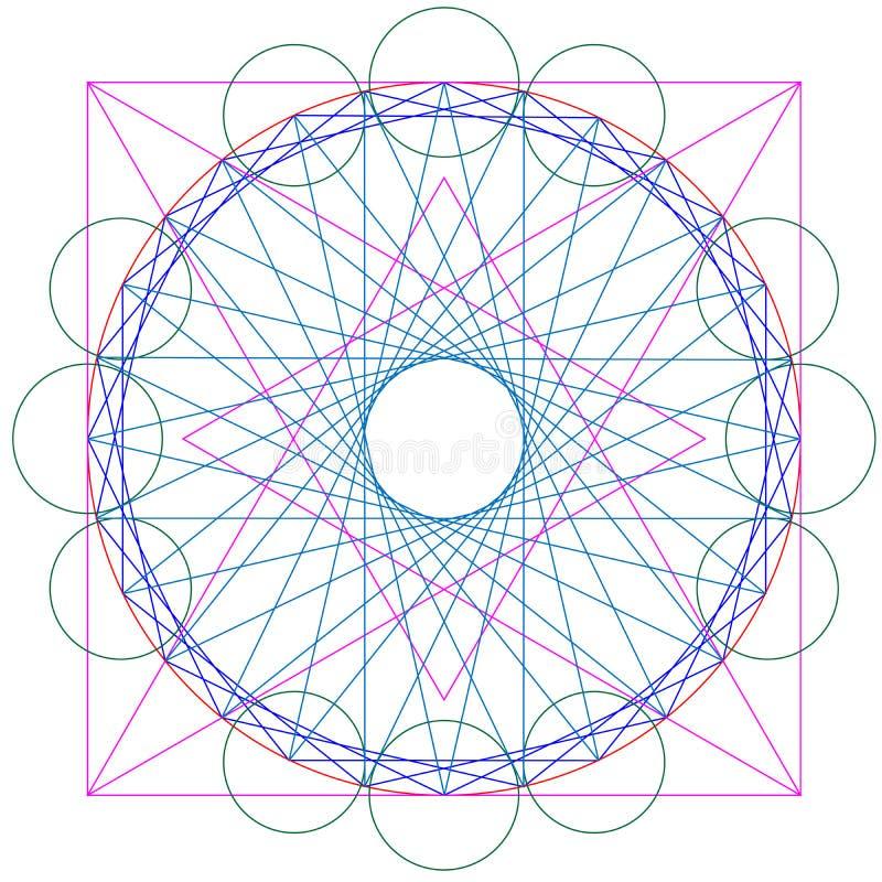 Wektorowy geometrical abstrakt obrazy stock