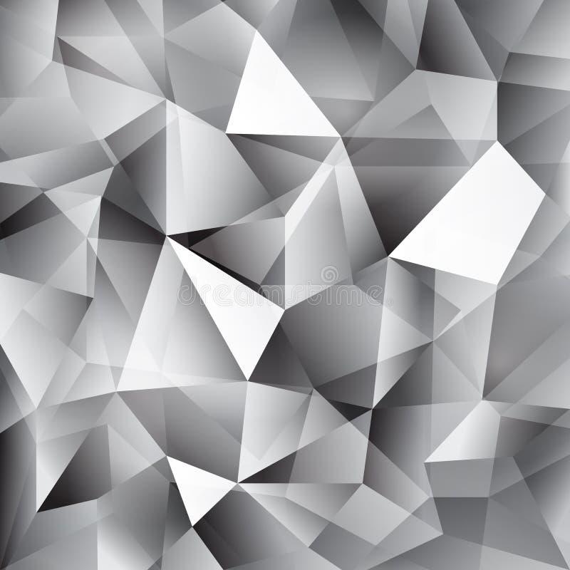 Wektorowy geometryczny abstrakcjonistyczny tło z trójbokami i liniami ilustracja wektor