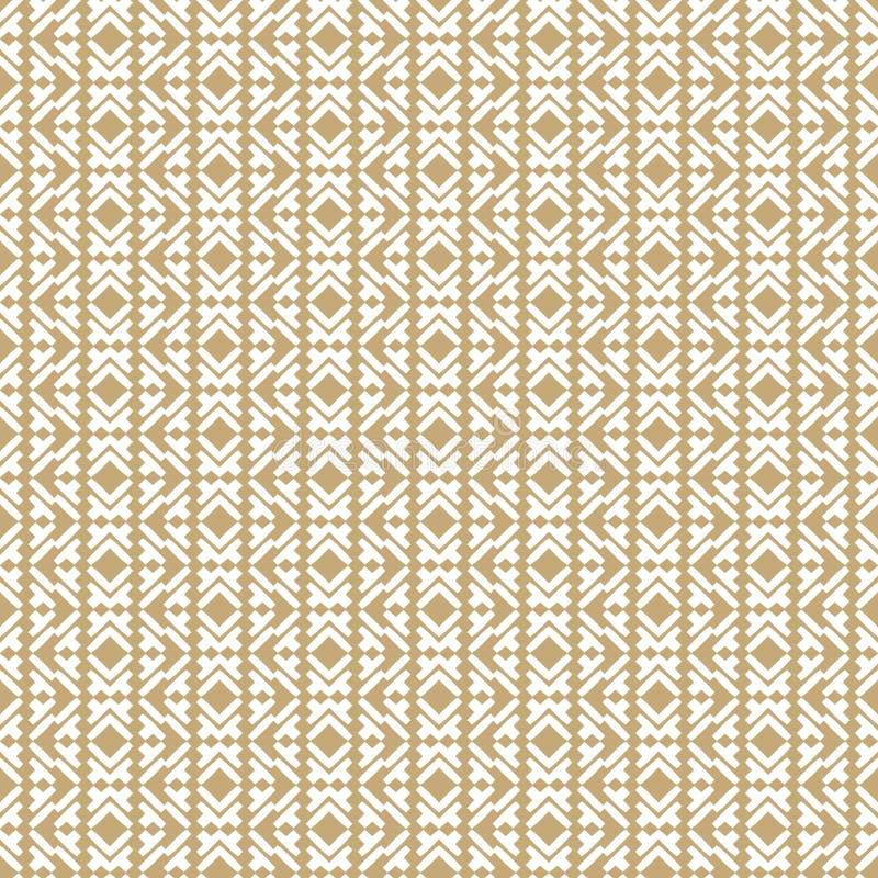 Wektorowy geometryczny bezszwowy wzór w tradycyjnym azjata stylu ilustracja wektor