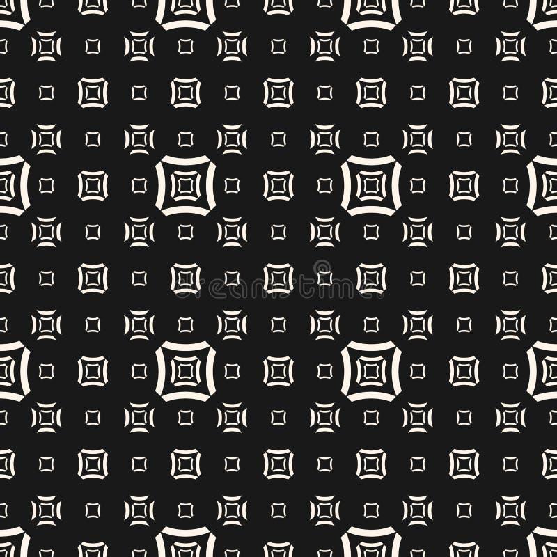 Wektorowy geometryczny bezszwowy wzór z konturów kwadratami, wyginać się linie royalty ilustracja