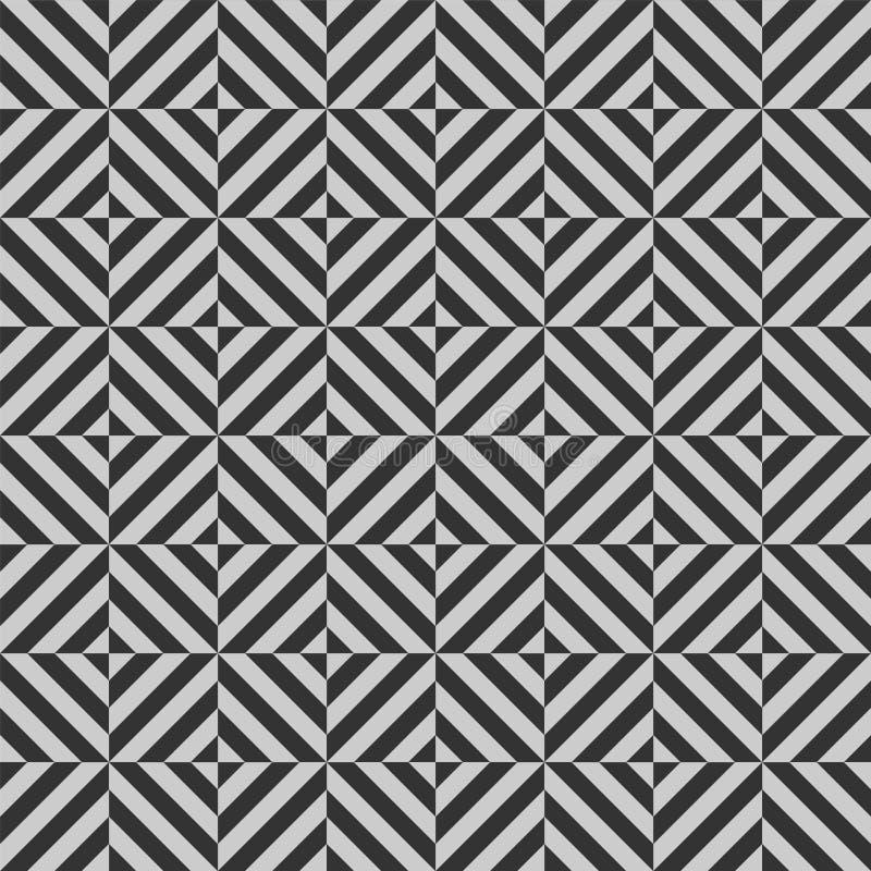 Wektorowy geometryczny bezszwowy wzór z lampasami, linie, obciosuje royalty ilustracja