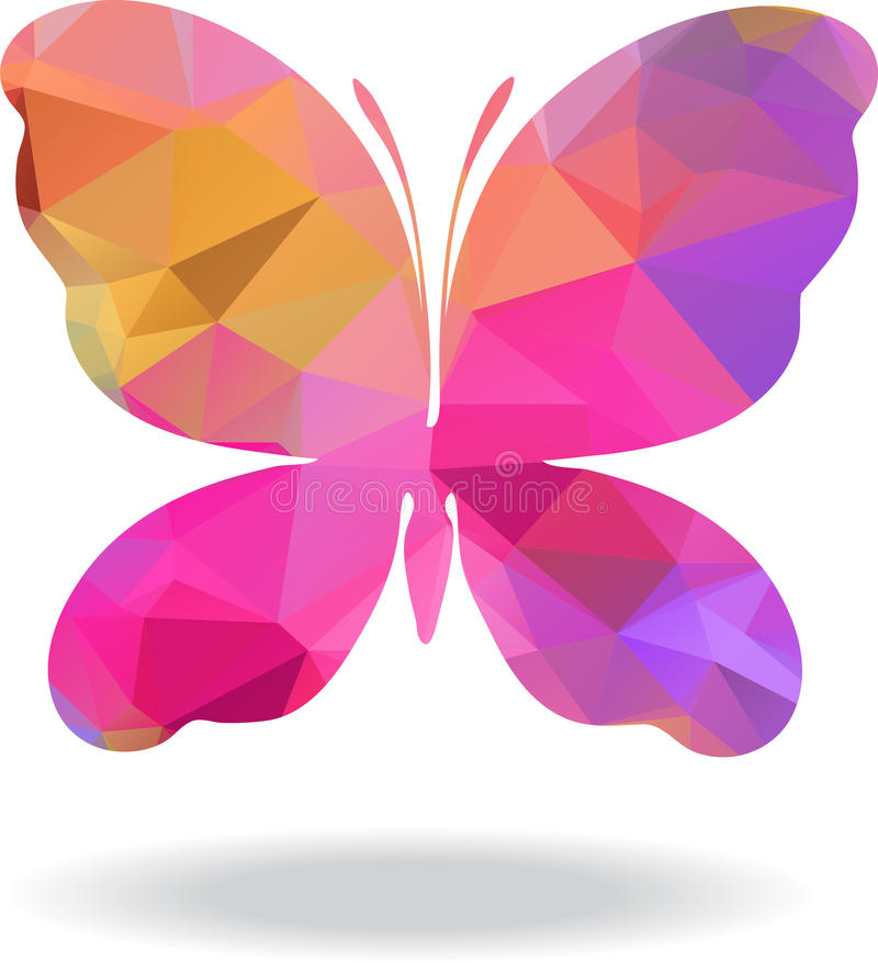 Wektorowy Geometryczny mozaika motyl ilustracja wektor