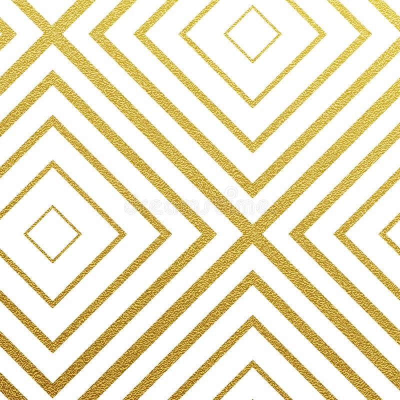 Wektorowy geometryczny złoto wzór ilustracji