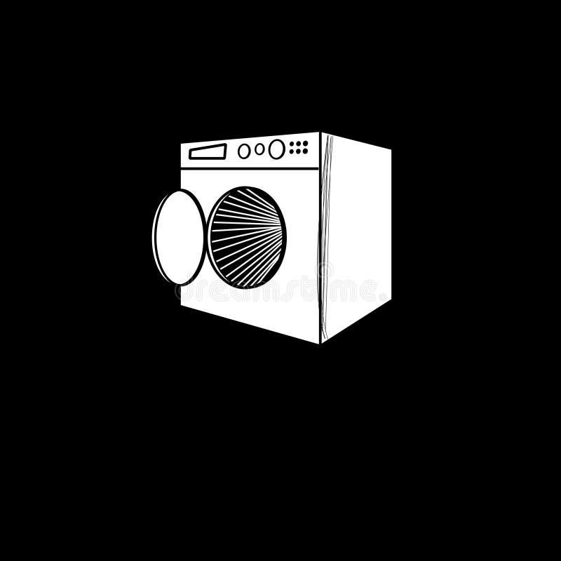 Wektorowy graficzny symbol pralka royalty ilustracja