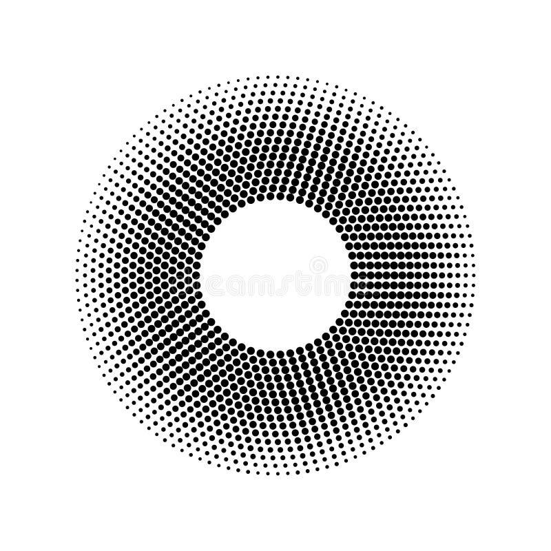 Wektorowy halftone kropek wzór Projekta element z halftone skutkiem pojedynczy białe tło ilustracja wektor