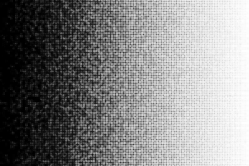 Wektorowy halftone przemiany wzór robić kropki z przypadkowymi wielkościowymi okręgami ilustracja wektor
