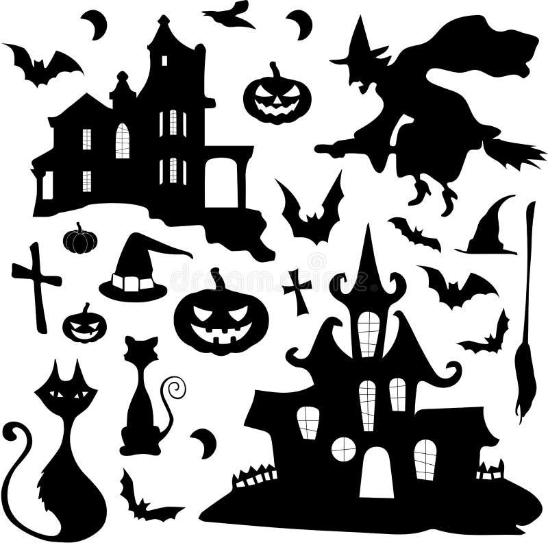 Wektorowy Halloween set zdjęcie stock