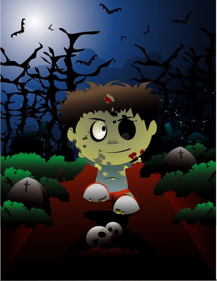 wektorowy Halloween zombi royalty ilustracja