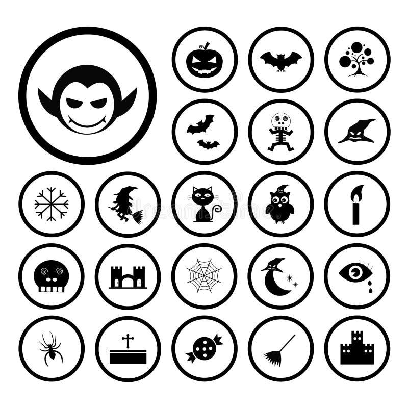 Wektorowy Halloweenowy ikona set ilustracji