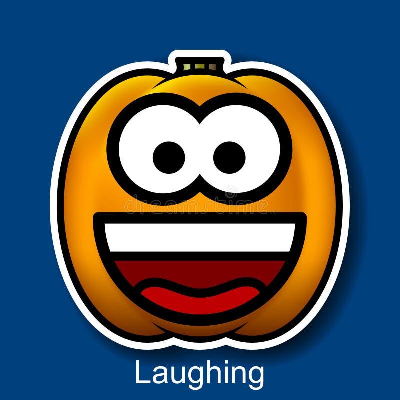 Wektorowy Halloweenowy Smiley Śmiać się ilustracja wektor