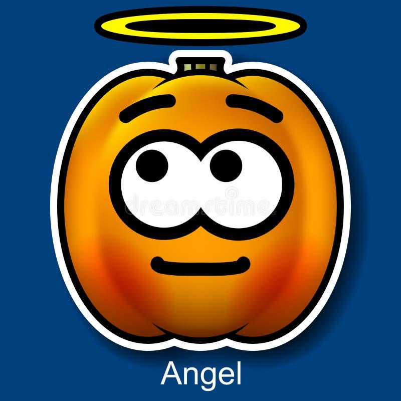 Wektorowy Halloweenowy Smiley anioł royalty ilustracja