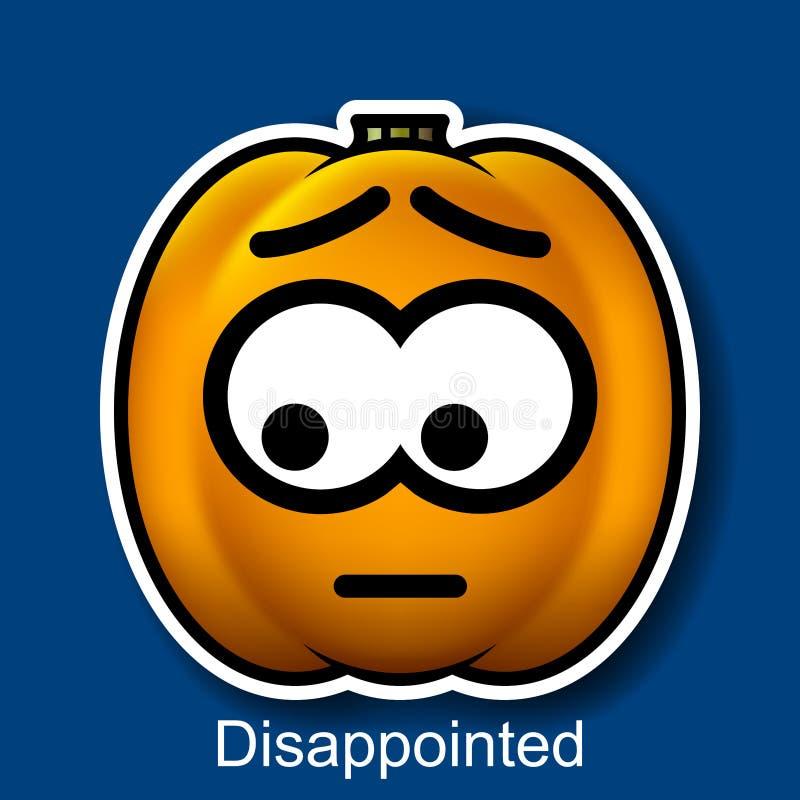 Wektorowy Halloweenowy Smiley Rozczarowywający ilustracji