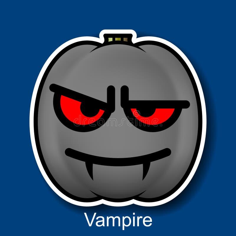 Wektorowy Halloweenowy Smiley wampir ilustracji