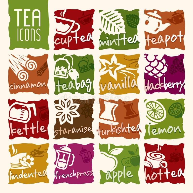 Wektorowy herbaciany ikona set ilustracja wektor