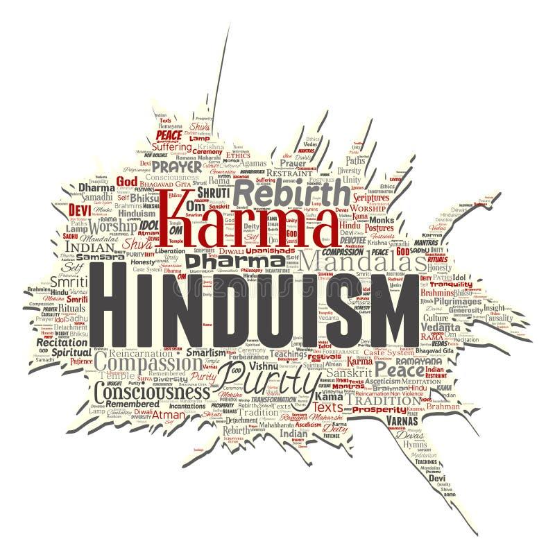 Wektorowy hinduism, shiva, joga słowa stara drzejąca papierowa chmura ilustracja wektor