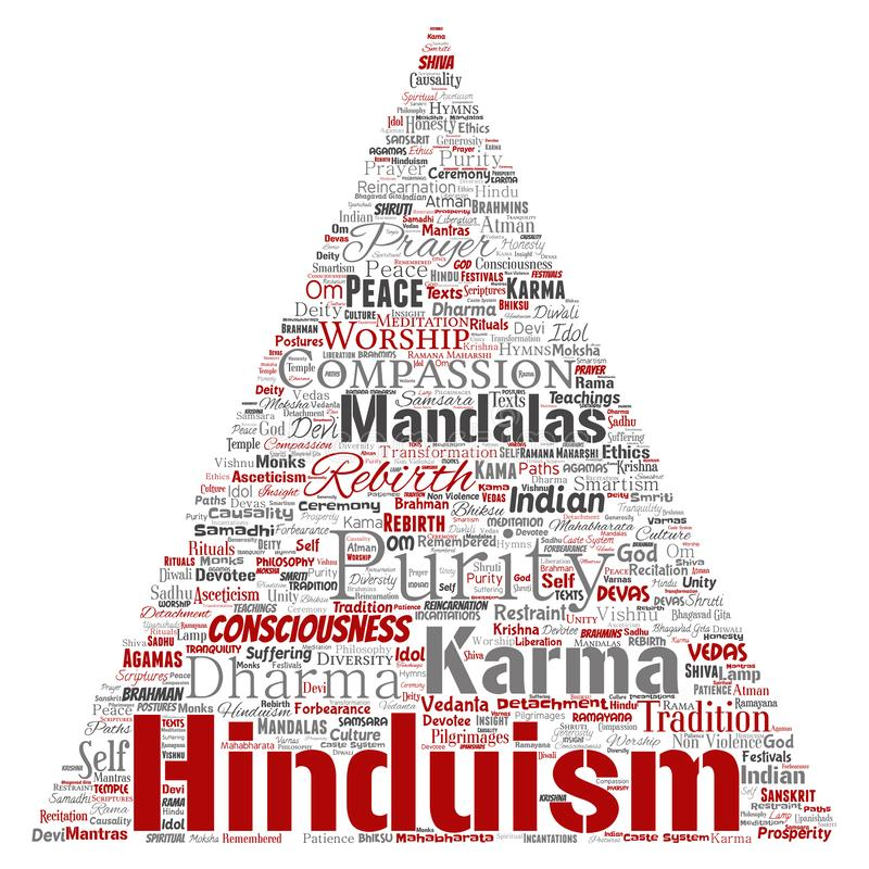 Wektorowy hinduism, shiva, rama, joga trójboka strzała ilustracji