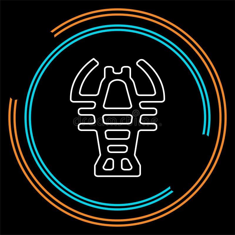 Wektorowy homara symbol - raka owoce morza royalty ilustracja
