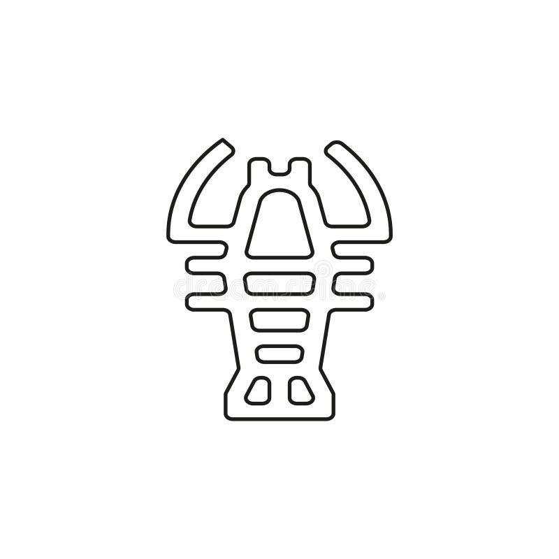 Wektorowy homara symbol - raka owoce morza ilustracja wektor