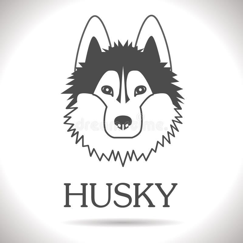 Wektorowy husky ilustracji