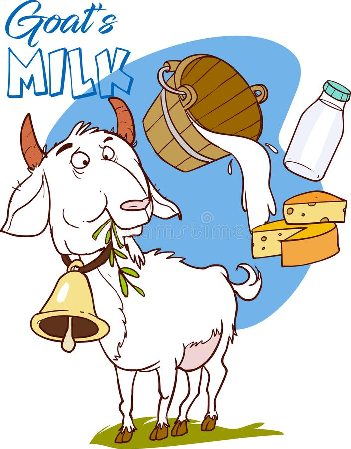 wektorowy illustrationof kózki mleka duży zapas ilustracji