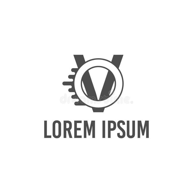 Wektorowy ilustracja list v i o prędkości ikony logo projekt ilustracji