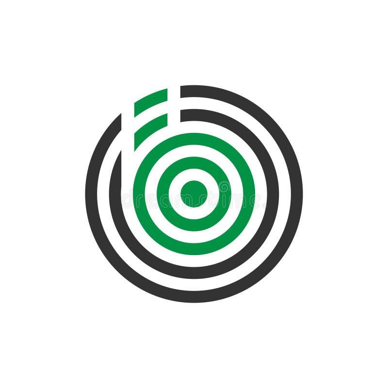 Wektorowy ilustracyjny abstrakcjonistyczny komara listu b ikony logo projekt ilustracja wektor