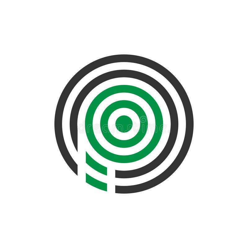Wektorowy ilustracyjny abstrakcjonistyczny komara listu p ikony logo projekt royalty ilustracja