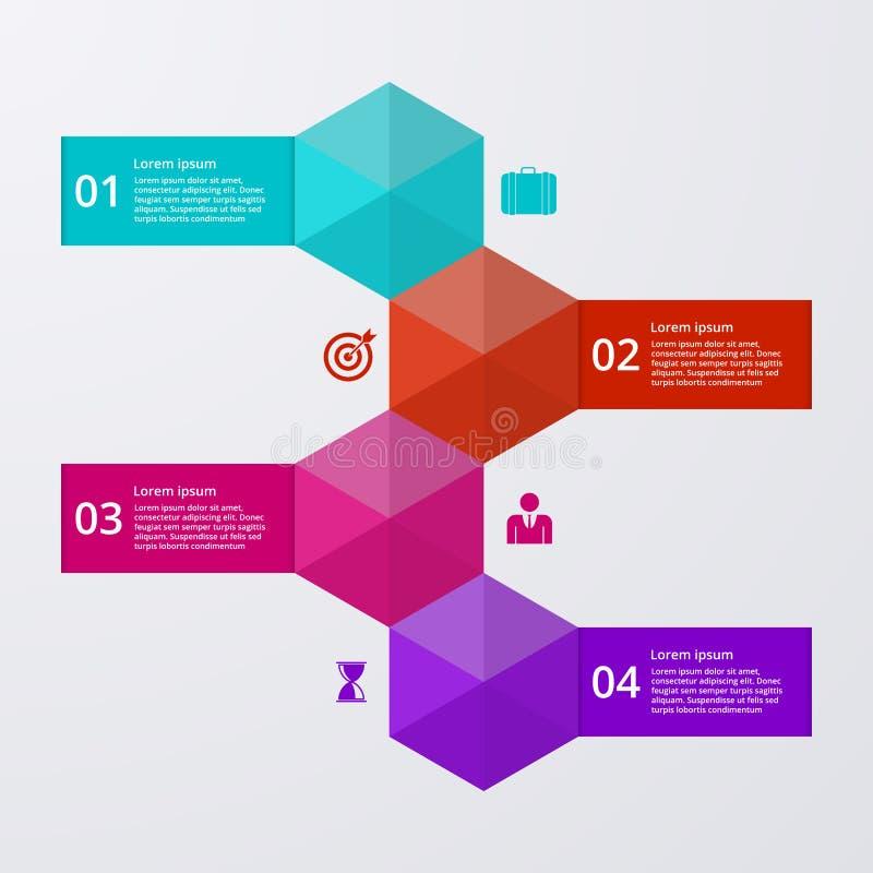 Wektorowy ilustracyjny infographics cztery opci ilustracji